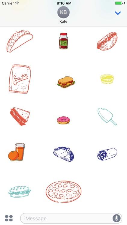 Yummy Food Sticker Pack screenshot-4