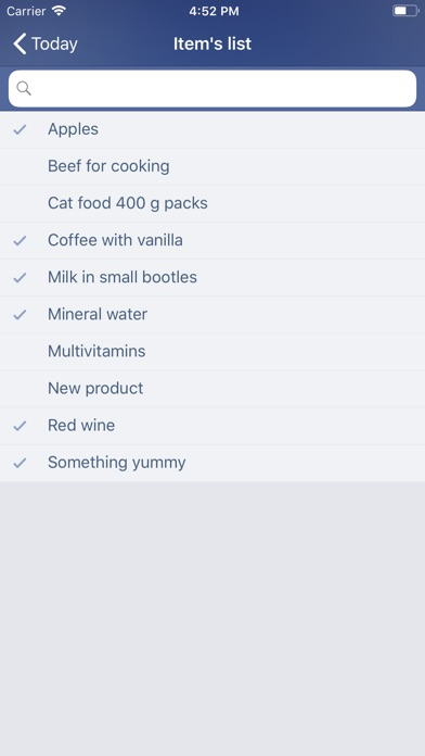 Just Buy! - Shopping list Screenshot