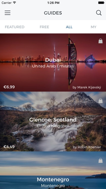 Snapp Guides -destination guides for photographers screenshot-0