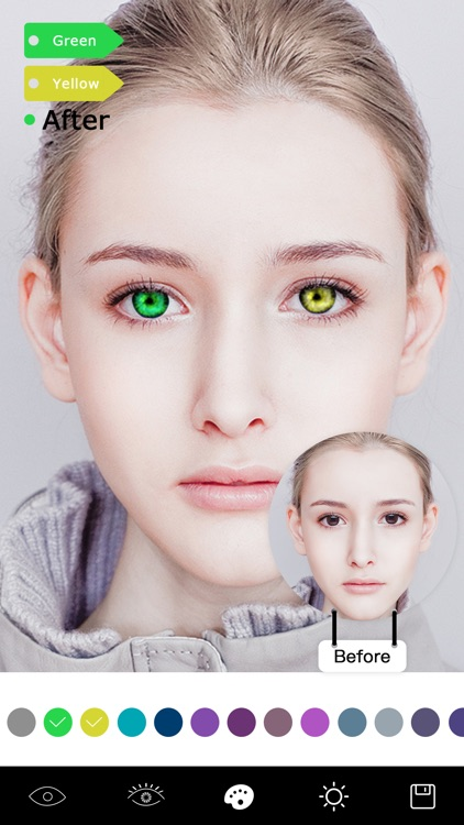 Magic Eye Color-Face Makeup