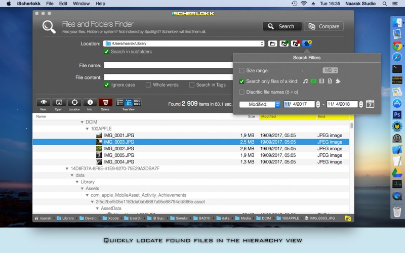 iScherlokk - Files finder Screenshots