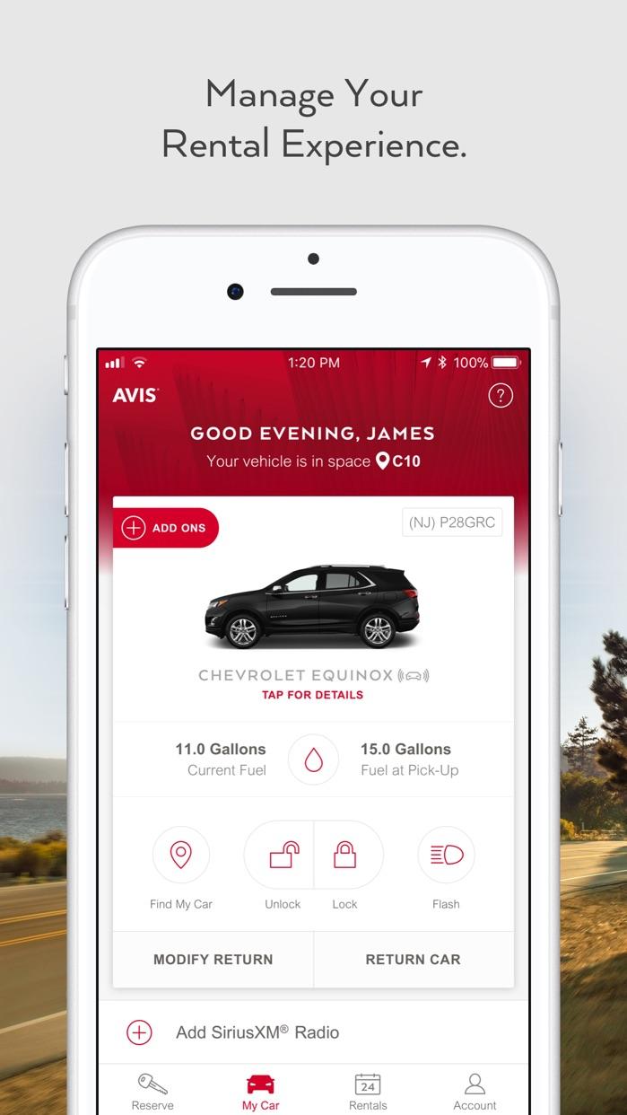 Avis - Car Rental Screenshot