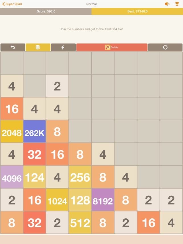 Variation on the 2048 game from lifeselector