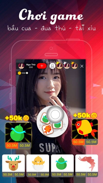 Vivu Live play games with girl