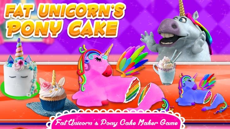 Fat Unicorn Cooking Pony Cake