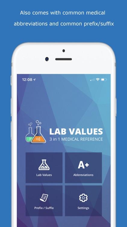 Lab Values Medical Reference screenshot-4