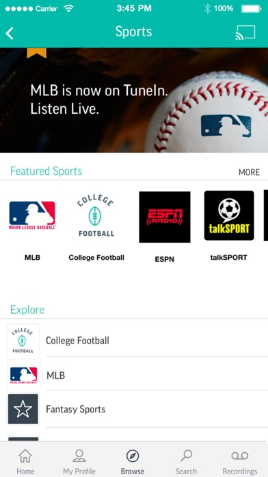 Screenshot for TuneIn Radio Pro in Jordan App Store