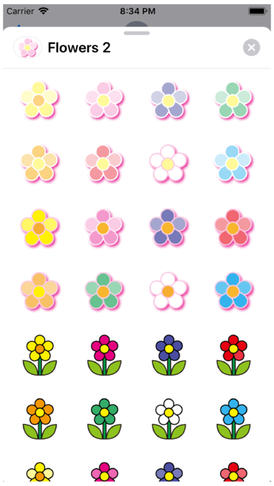 Flowers 2 Stickers Screenshot