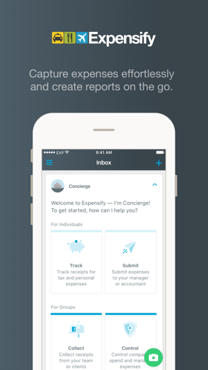 expensify receipts expenses on the app store
