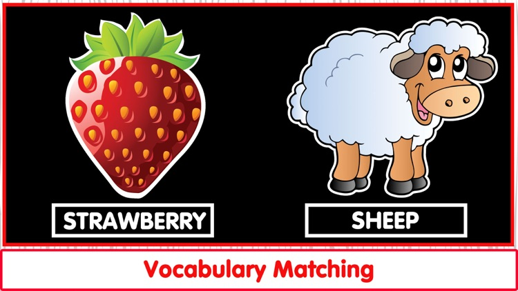 Matching Vocab Animals & Fruit