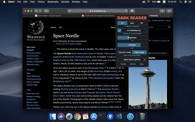 Dark Reader for Safari Screenshots