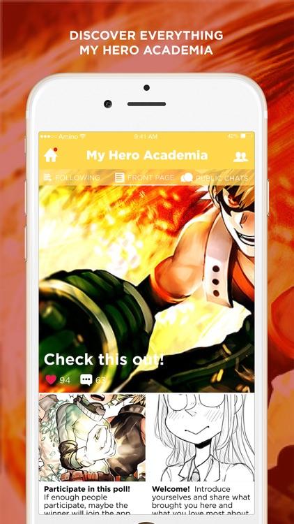 Amino for: My Hero Academia