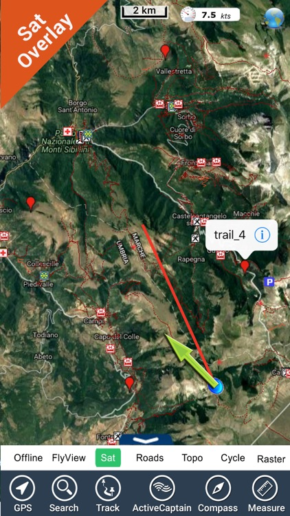 Monti Sibillini National Park - GPS Map Navigator