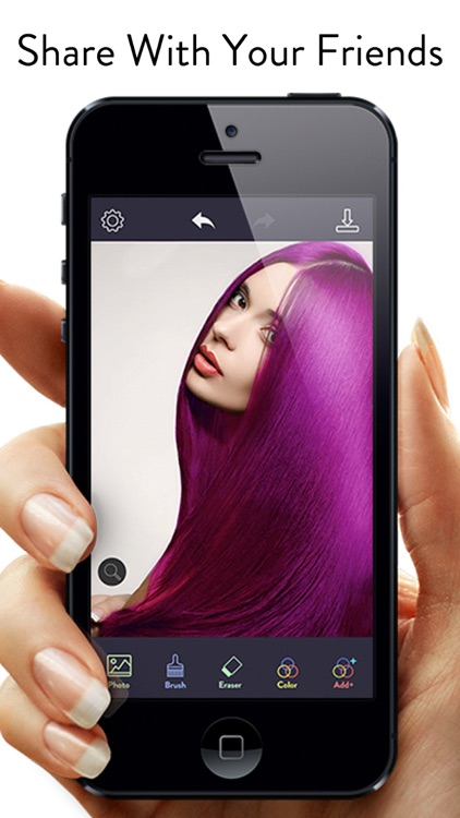 Hair Color Dye - Switch Hairstyle, Face Pic Makeup screenshot-4