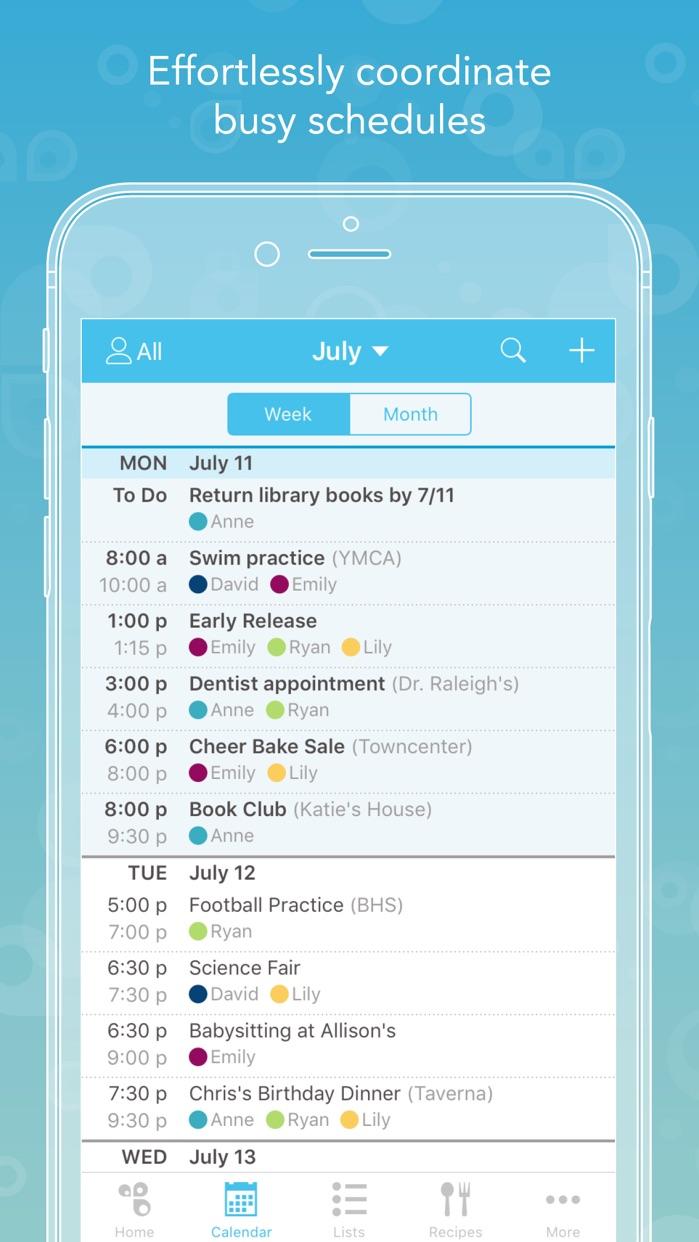 Cozi Family Organizer Screenshot