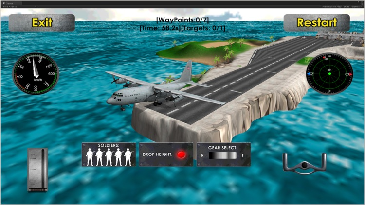 Flight Simulator Transporter Airplane Games screenshot-4