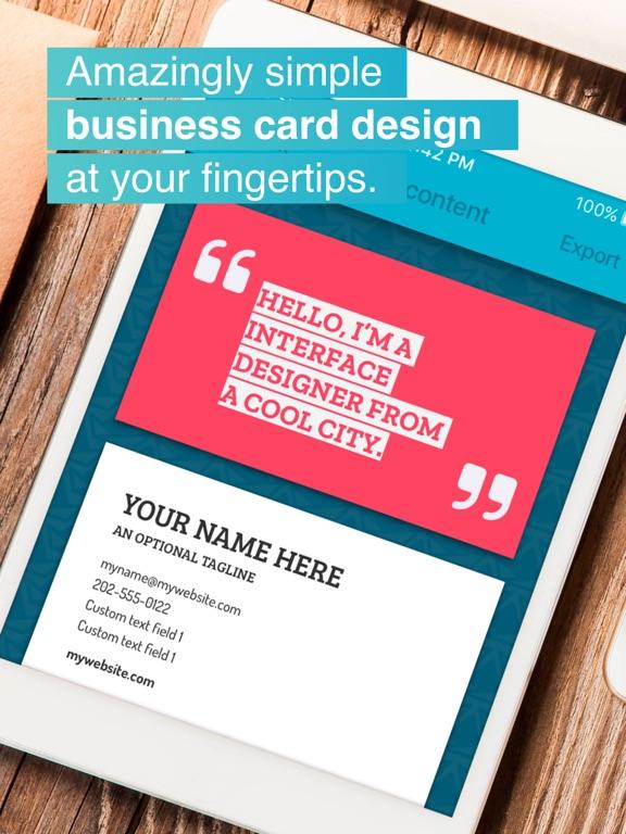 Print business card maker app price drops screenshot 1 for print business card maker colourmoves