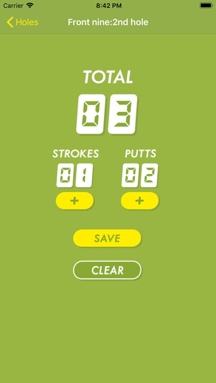 Simple Golf Counter