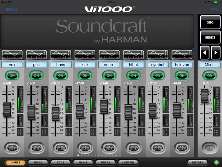 Soundcraft ViSi Remote screenshot-3