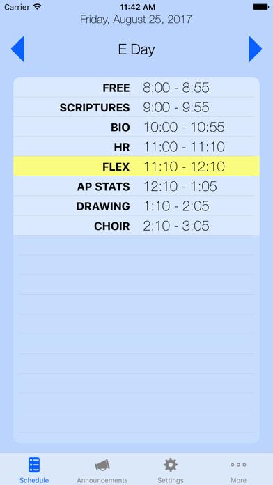 X Schedule - Daily Order screenshot one