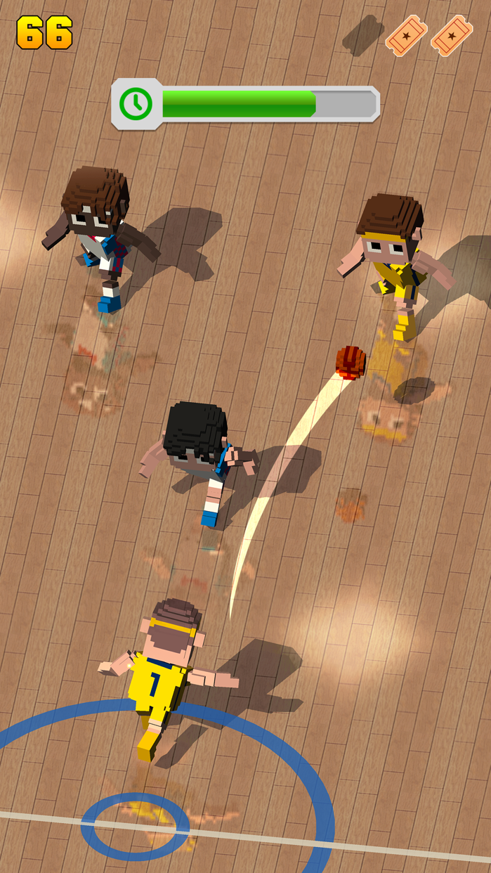 Blocky Basketball FreeStyle Screenshot
