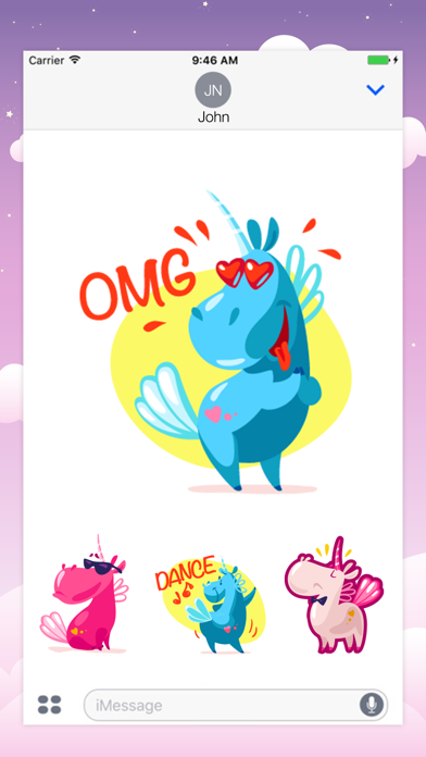 Animated UNICORN Fantastic Stickers screenshot two