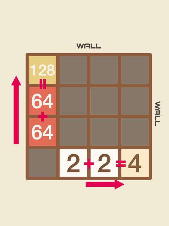 2048 HD - Snap 2 Merged Number Puzzle Game screenshot