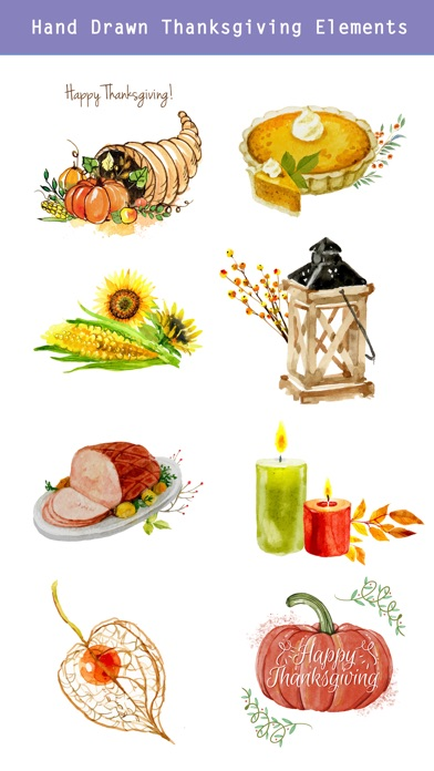 Thanksgiving Watercolor Set screenshot 4