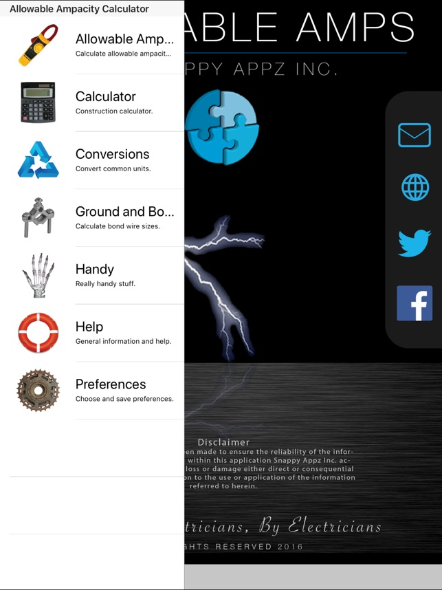 Ampacity calculator pro on the app store ampacity calculator pro on the app store greentooth Choice Image