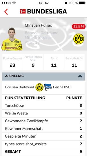 Bundesliga Fantasy Manager Screenshot