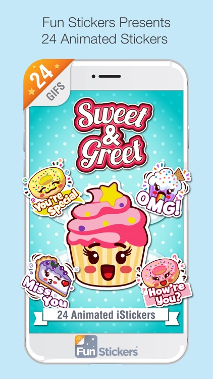 Sweet and Greet iSticker