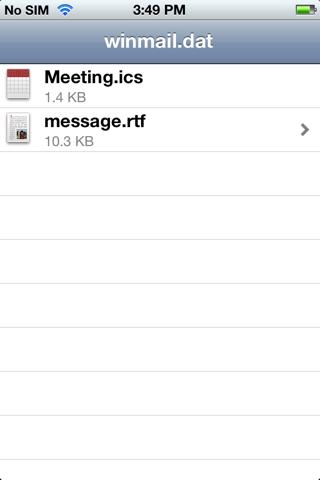 Скриншот из Winmail File Viewer