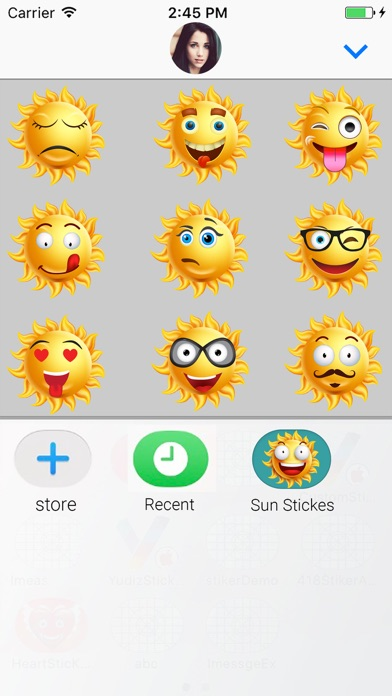 Sun Face : Animated Stickers screenshot four