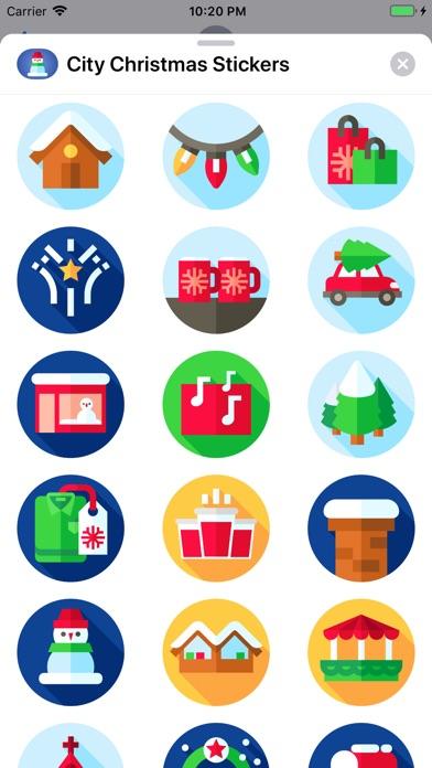 City Christmas Stickers screenshot 2