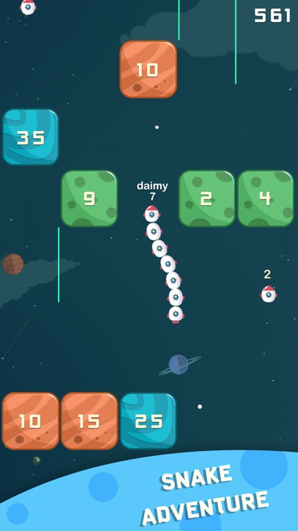 Space Race - Snake and Blocks
