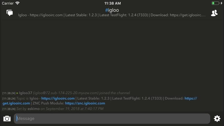 Igloo IRC screenshot-4