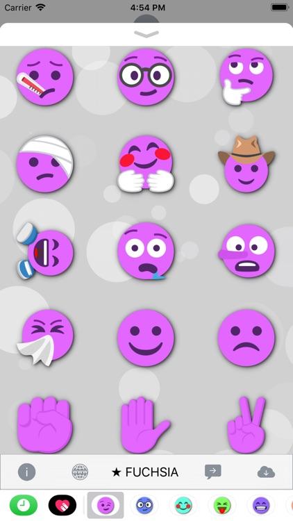 FUCHSIA Emoji • Stickers screenshot-4