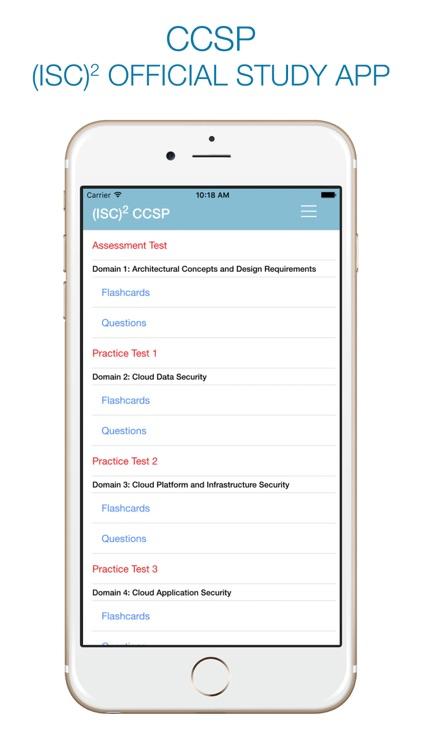 CCSP Study - (ISC)² OFFICIAL APP screenshot-0