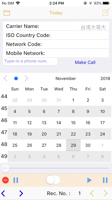 CallPhoneCall - Telephone Memo screenshot 2