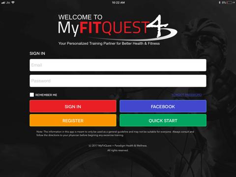 MyFitQuest 4 - náhled