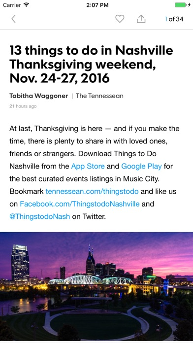 Things To Do Nashville Screenshot on iOS