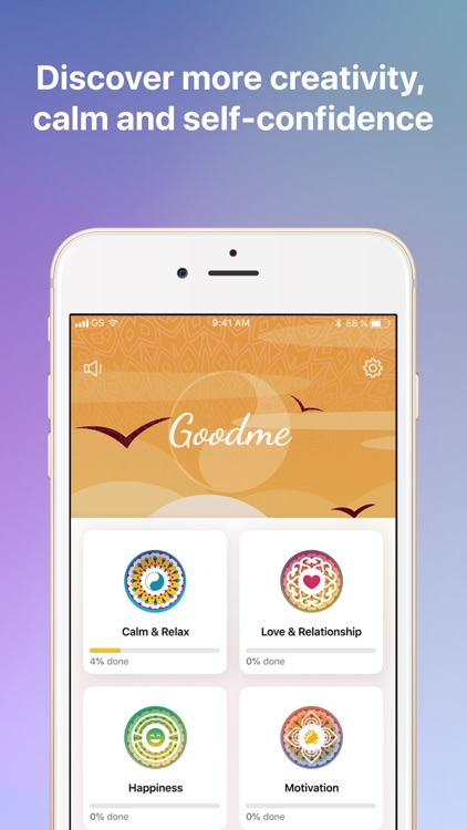Goodme: mindfulness & relax screenshot-0