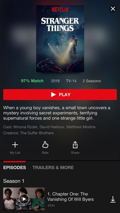 Screenshot 1 for Netflix's iPhone app'