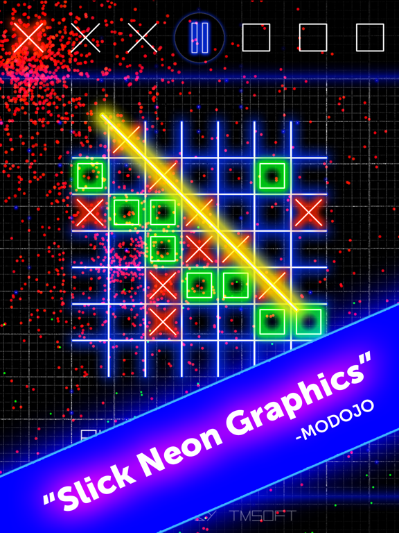 Tic Tac Toe Glow by TMSOFT screenshot