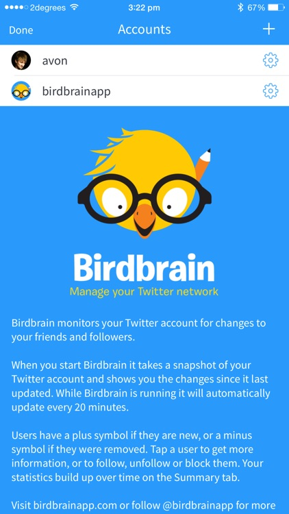 Birdbrain ~ stats for Twitter screenshot-0