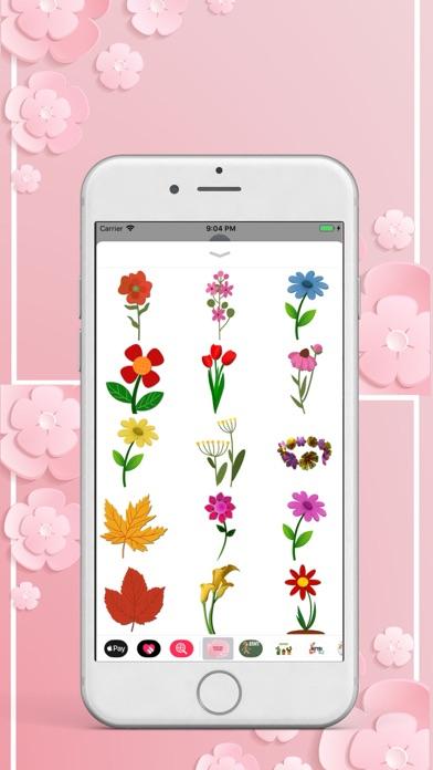 Beautiful Flower Pack Stickers screenshot two
