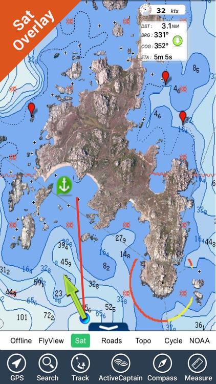 Corsica Nautical Charts GPS HD
