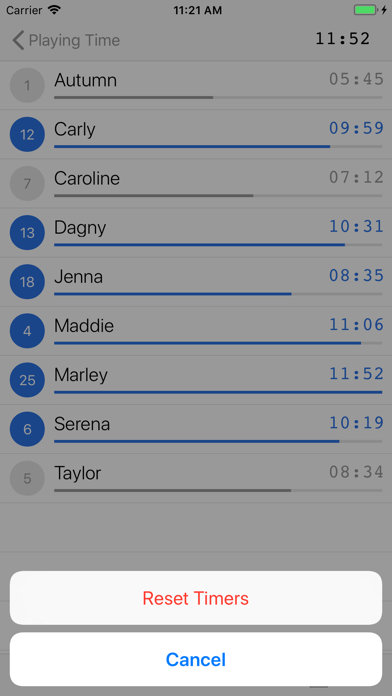 Playing Time review screenshots