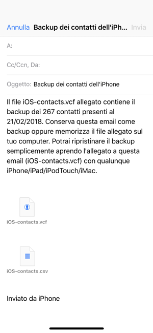 ‎Backup Contatti Screenshot