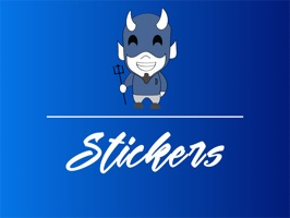 Blue Devil Stickers